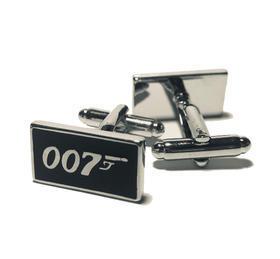 Manžetové gombíky agent 007 čierne