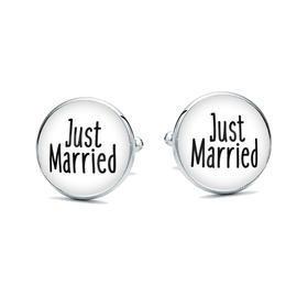 Manžetové gombíky Just married