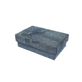 Darčeková papierová krabička sivá