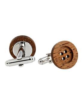 Manžetové gombíky drevený gombík