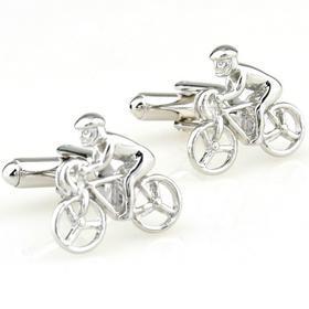 Manžetové gombíky cyklista