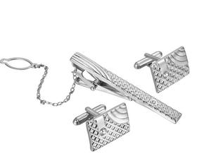 Manžetové gombíky so sponou - luxusný set