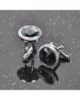 Manžetové gombíky velký čierný krystal