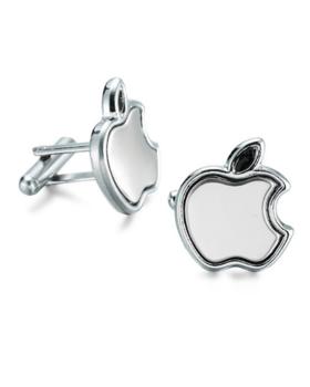 Manžetové gombíky apple silver