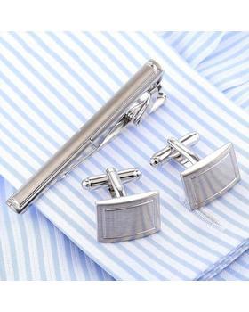 Manžetové gombíky se sponou na kravatu traditional