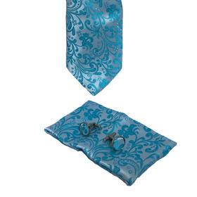 Luxusný set světle modrý vzor květiny
