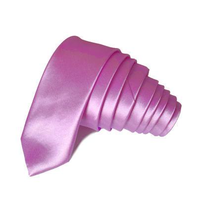 Kravata Slim hodvábna fialová svetlá 3