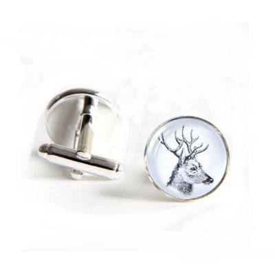 Manžetové gombíky biely jeleň