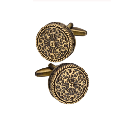 Manžetové gombíky bronzový vzor