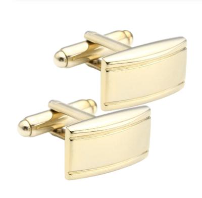 Manžetové gombíky matné s pruhmi gold