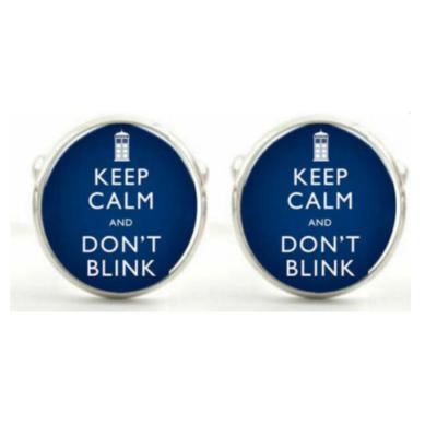 Manžetové gombíky Keep calm and do not Blink