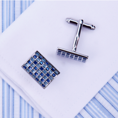 Manžetové gombíky modrá mozaika