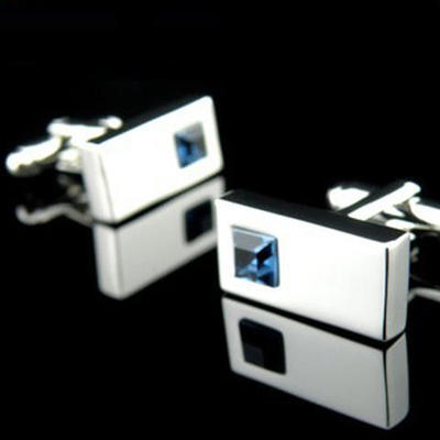 Manžetové gombíy - modrý kryštal