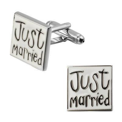 Manžetové gombíky novomanželia - 1