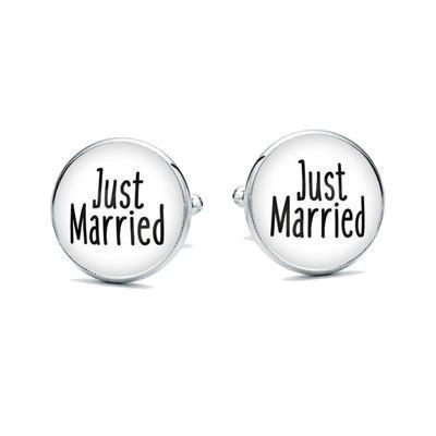 Manžetové gombíky Just married - 1