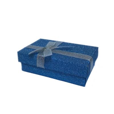 Darčeková papierová krabička modrá - 1