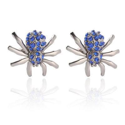 Manžetové gombíky modrý pavúčik