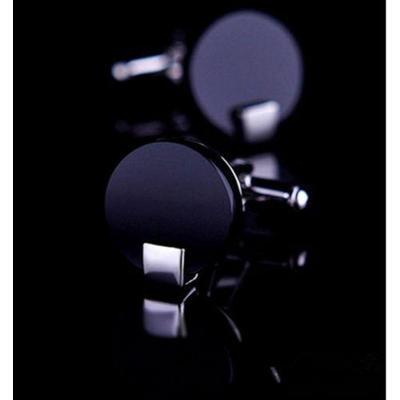 Manžetové gombíky čierne okrúhle