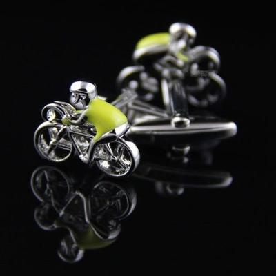 Manžetové gombíky cyklista v žltom drese