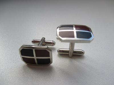 Manžetové gombíky dvojfarebné - 1