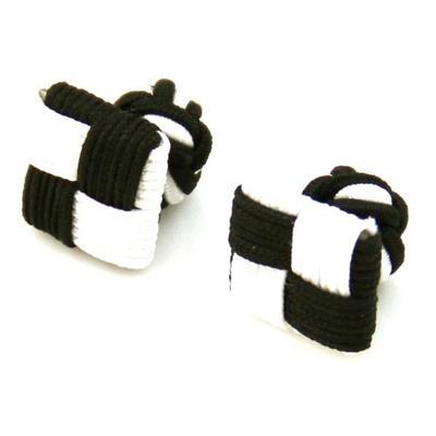Manžetové gombíky elastické čiernobiele