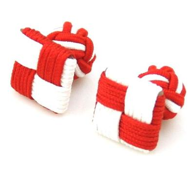 Manžetové gombíky elastické červenobiele