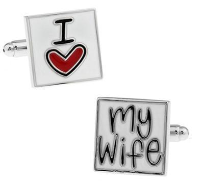 Manžetové gombíky milujem svoju ženu - 1