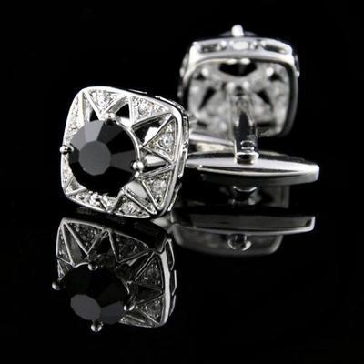 Manžetové gombíky čierny kameň