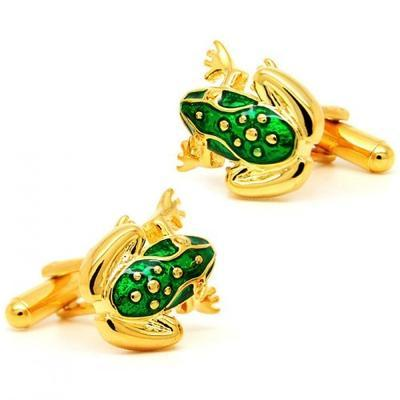 Manžetové gombíky žabka zlatá - 1