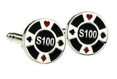 Manžetové gombíky pokerový žetón - 1