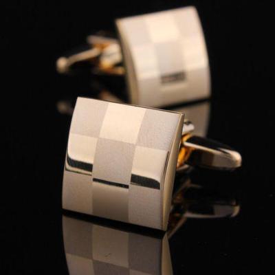 Manžetové gombíky šachovnica gold
