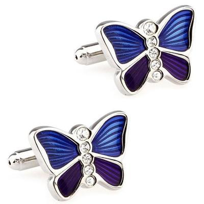 Manžetové gombíky Motýľ modrofialový