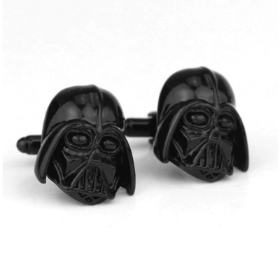 Manžetové gombíky Darth Vader Star Wars čierna