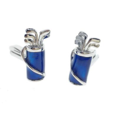 Manžetové gombíky golfový bag modrý