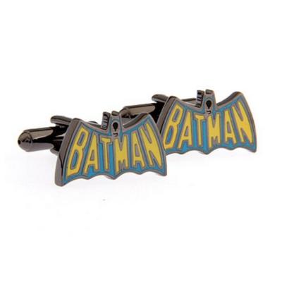 Manžetové gombíky Batman farebné logo