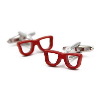 Manžetové gombíky červené okuliare