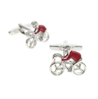 Manžetové gombíky červený cyklista