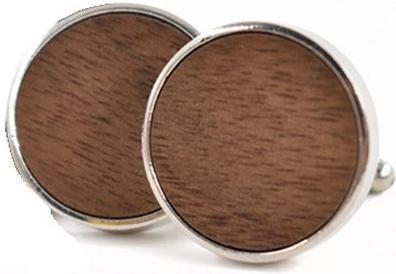 Manžetové gombíky drevené kolečko