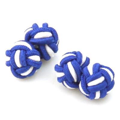 Manžetové gombíky elastické modrobiele uzlíky