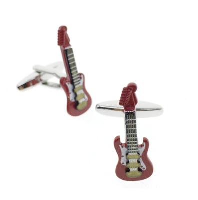 Manžetové gombíky červená gitara elektrická - 1