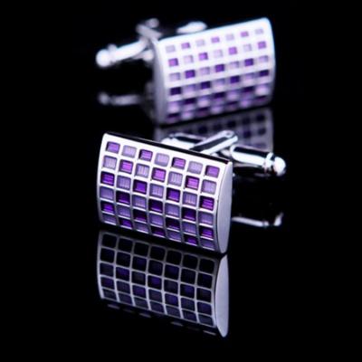 Manžetové gombíky Purpurová šachovnica