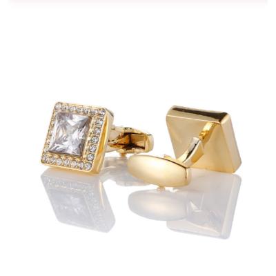 Manžetové gombíky luxusné zlatý krištáľ