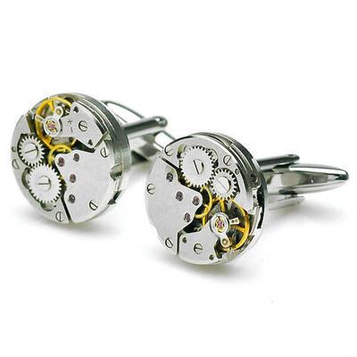 Manžetové gombíky hodinový strojček