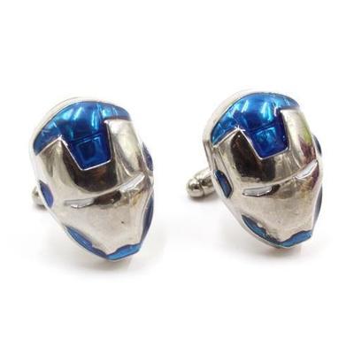 Manžetové gombíky Iron Man modre