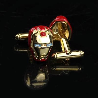 Manžetové gombíky Iron Man gold