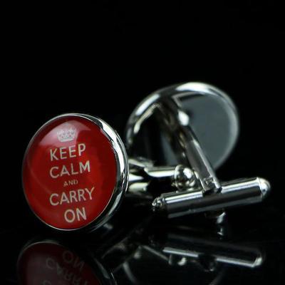 Manžetové gombíky Keep calm and carry on