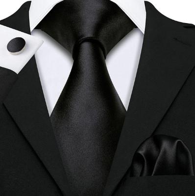 Manžetové gombíky s kravatou čierna - Amfitriti