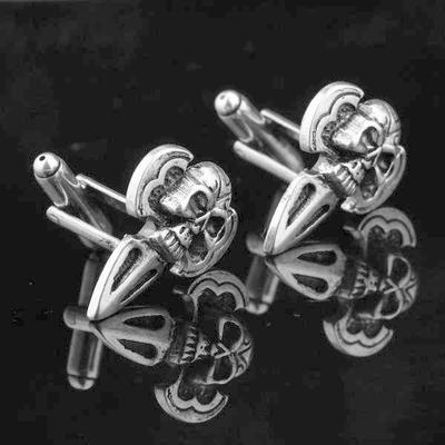 Manžetové gombíky lebka šípka