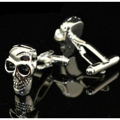 Manžetove gombiky lebka - skeleton