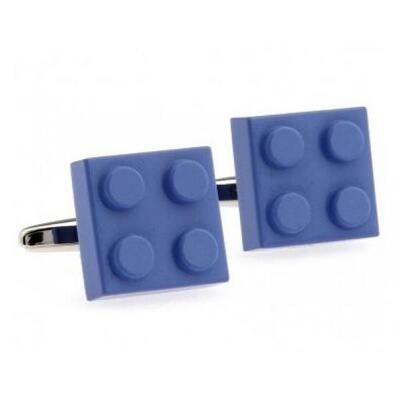 Manžetové gombíky modrej Lego